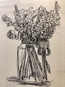 Drawing of flowers