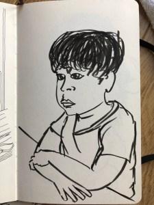 Drawing of Sam