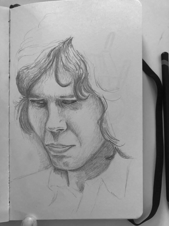 Drawing of Nick Drake