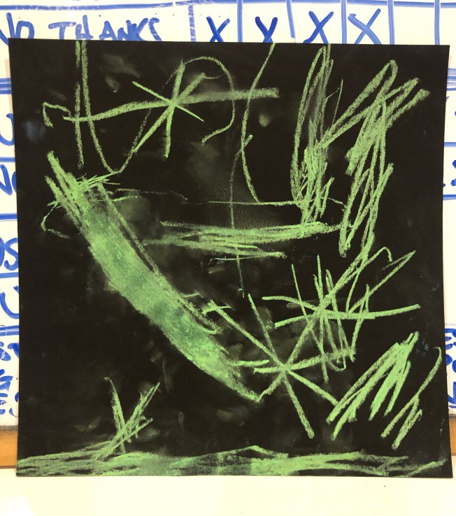 Abstract chalk art drawing.