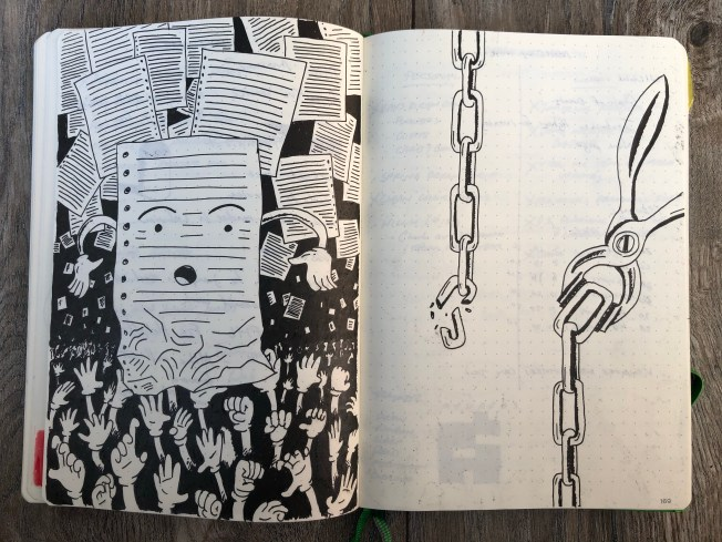 Random drawings from my notebook.