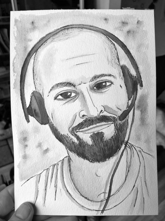 Watercolor portrait of me.