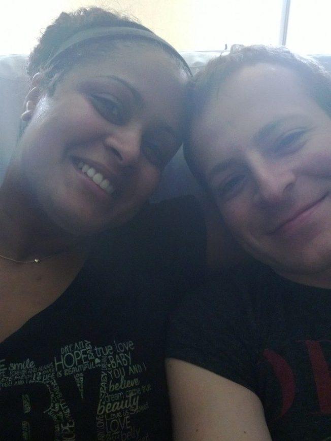 Kav and I pre-babies.