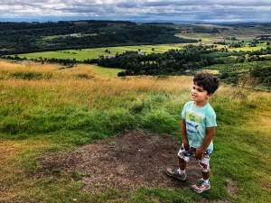 Sam on top of the Campsie Fells.