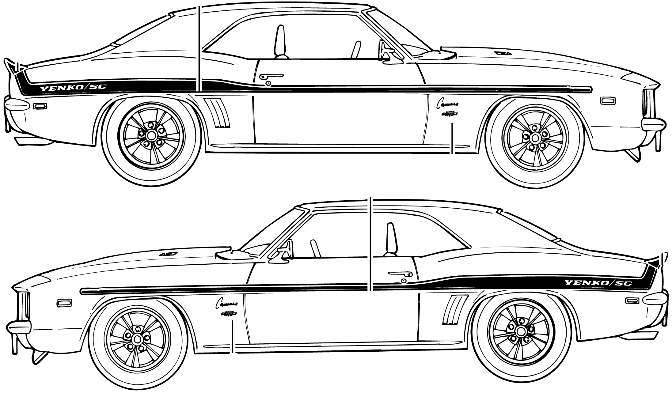 Chevrolet Camaro Yenko Sc Coupe Blueprints Free