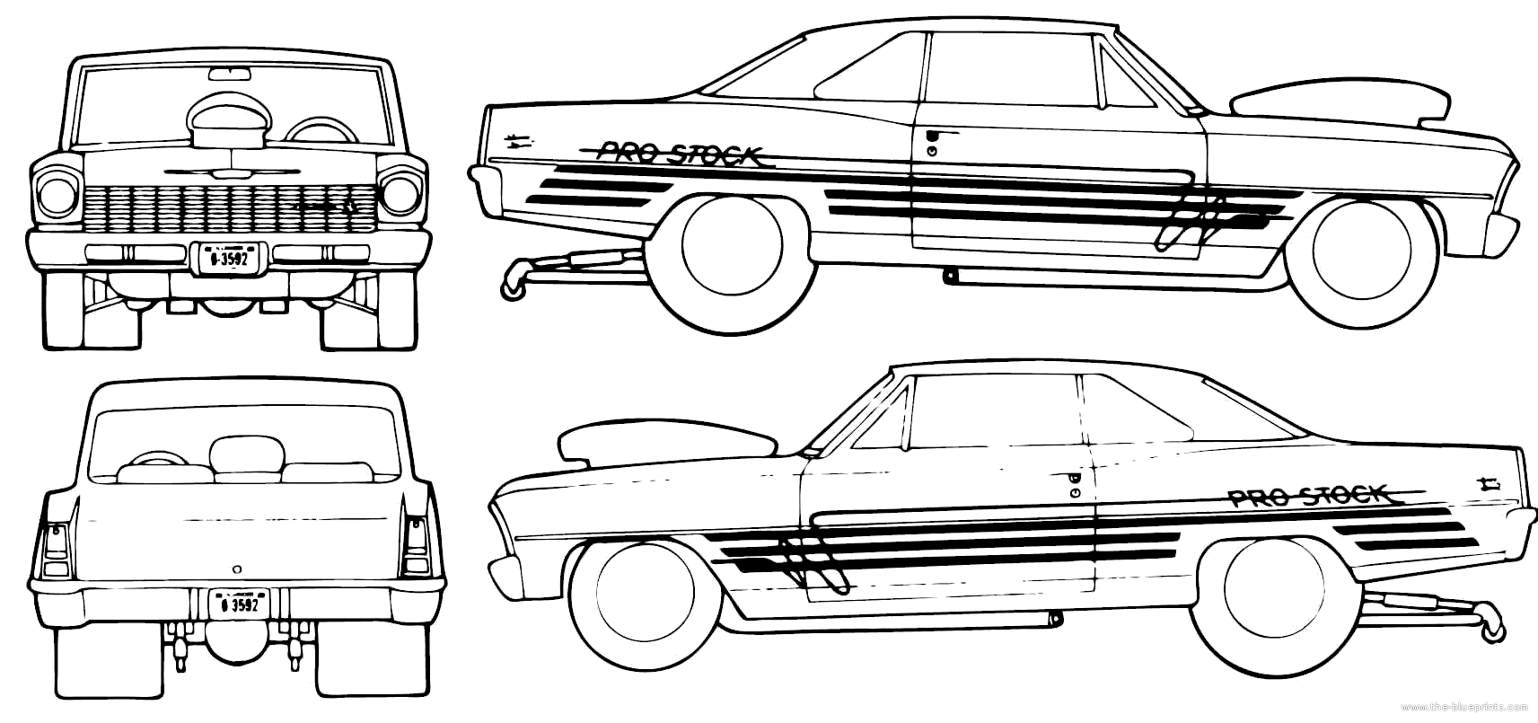 Chevrolet Nova Pro Street Coupe Blueprints Free