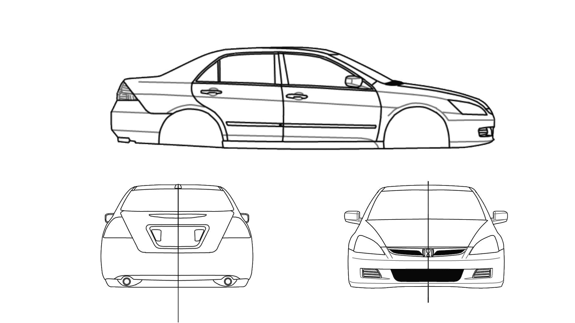 Honda Accord Se 07 V6 Sedan Blueprints Free