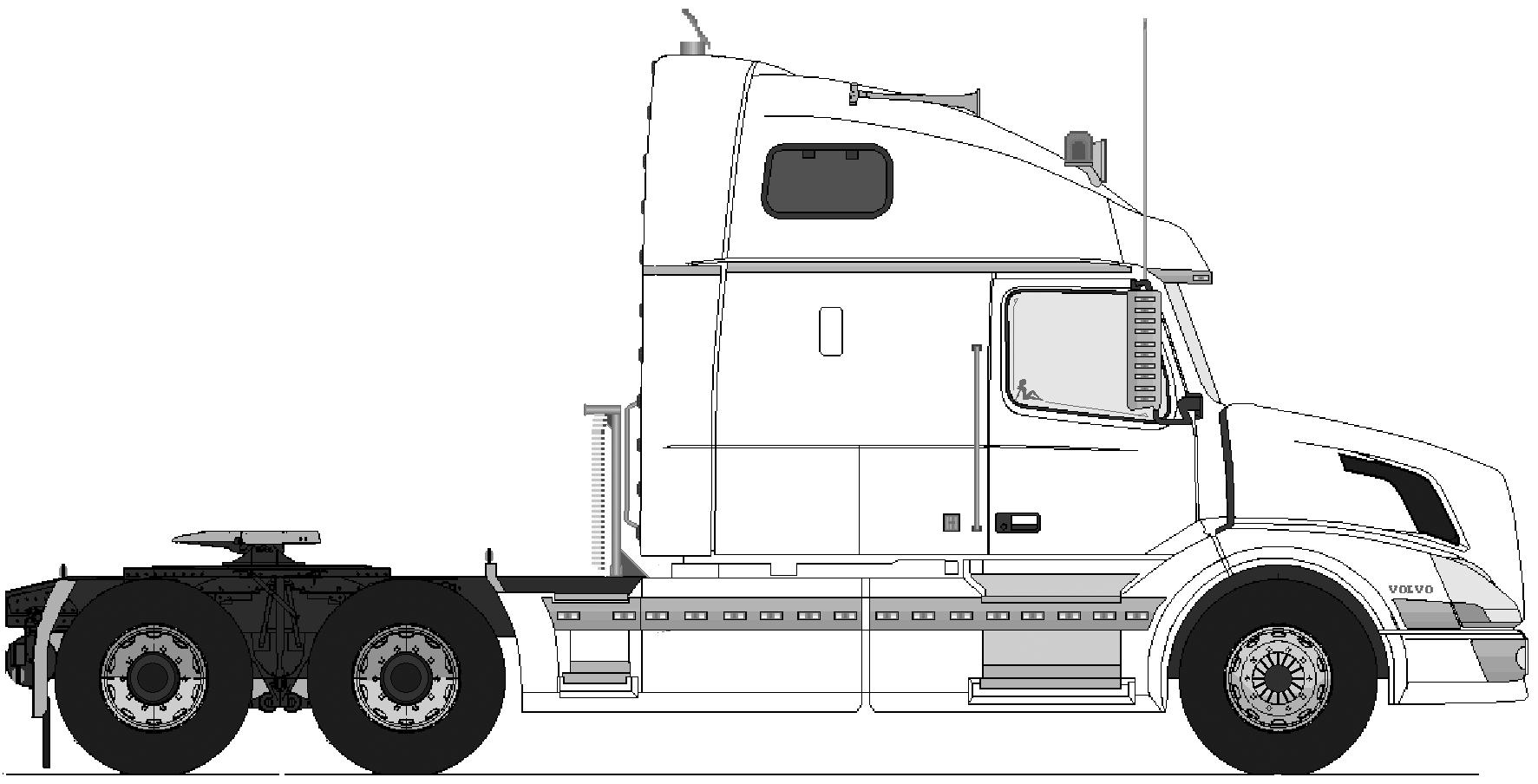 Volvo Vn770 6x4 Heavy Truck Blueprints Free