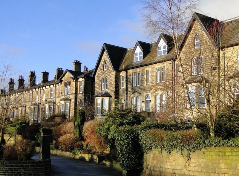 nice English terace houses