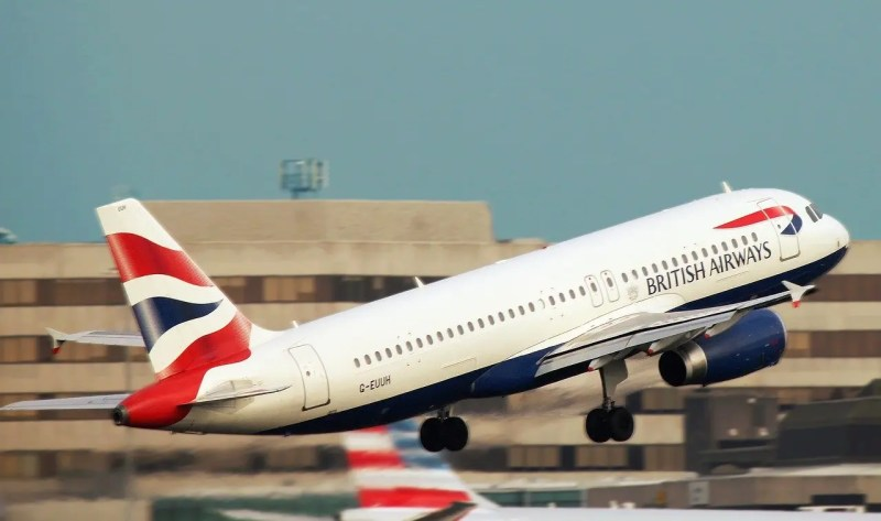 BA airplane