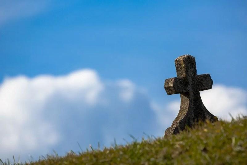 cross marking a grave