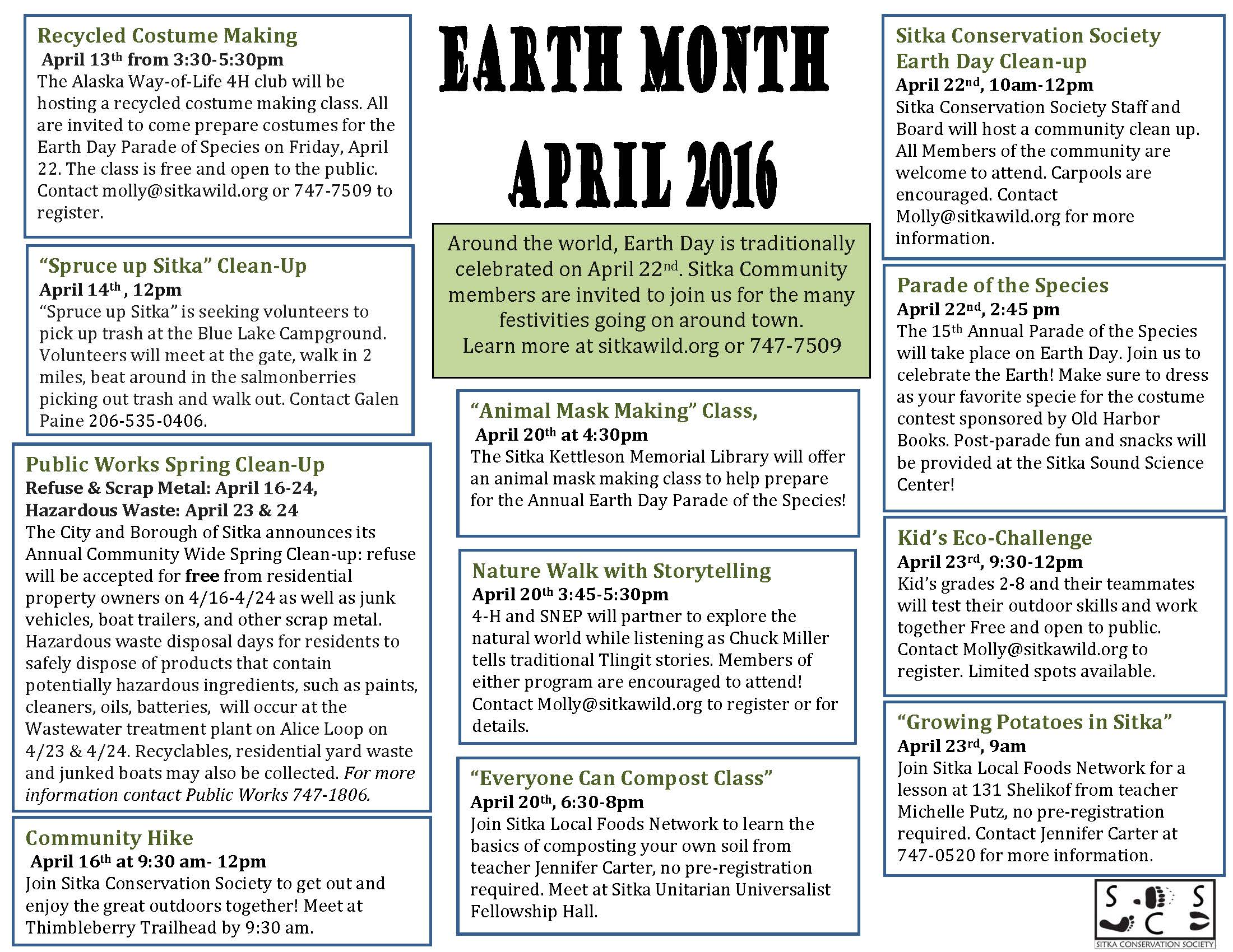 Earth Month Activities Include The Parade Of The Species