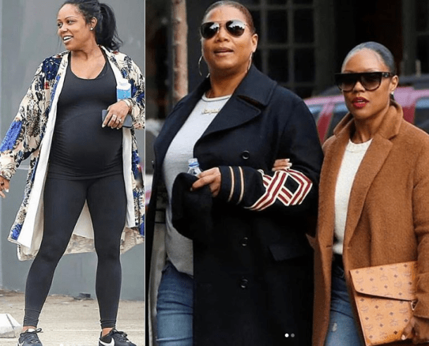 Queen Latifah's longtime girlfriend Eboni Nichols spotted out with a baby bump as she confirms they are expecting their first child (Photos)