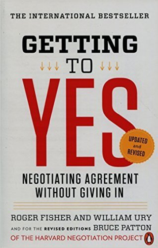 'Getting to Yes' by Roger Fisher, William Ury, and Bruce Patton