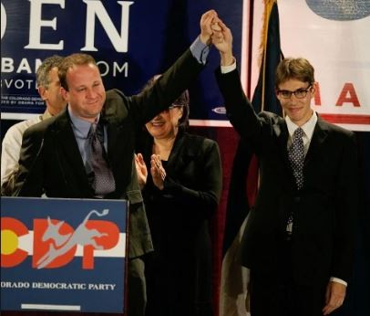 Jared Polis becomes the first openly gay governor in US as he introduced hislong-term partner on election night