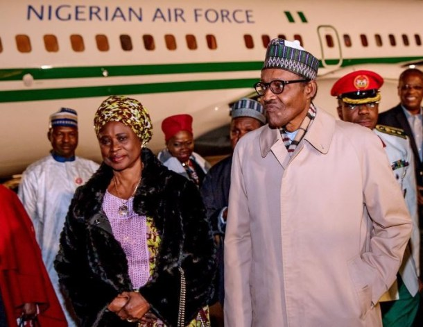 Photos: President Buhari arrivesFrance to participate in the first edition of the Paris Peace Forum