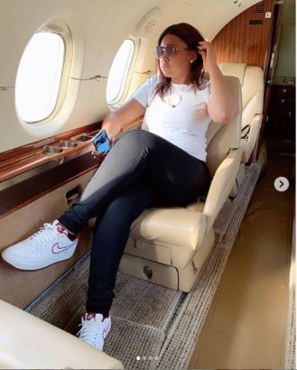 Regina Daniels has been allegedly flying in Ned Nwoko's private jet lailasnews 3