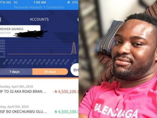 Austynobeatz returns 4.5million mistakenly sent into his account