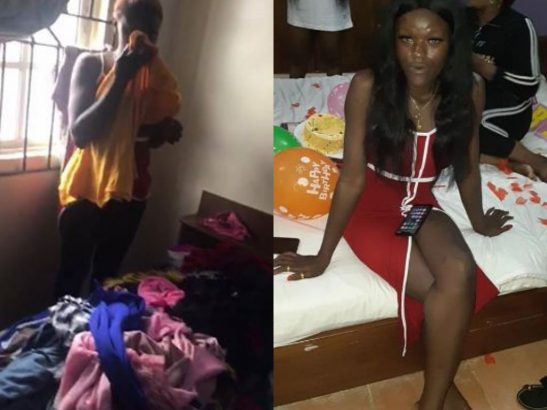 Lady accused of stealing at a birthday party in Benin