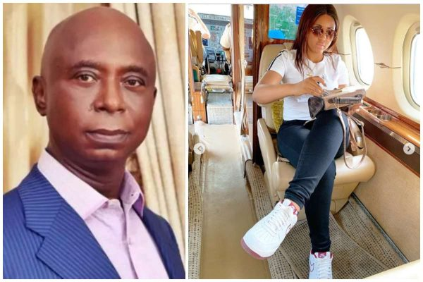 Regina Daniels has been allegedly flying in Ned Nwoko's private jet lailasnews