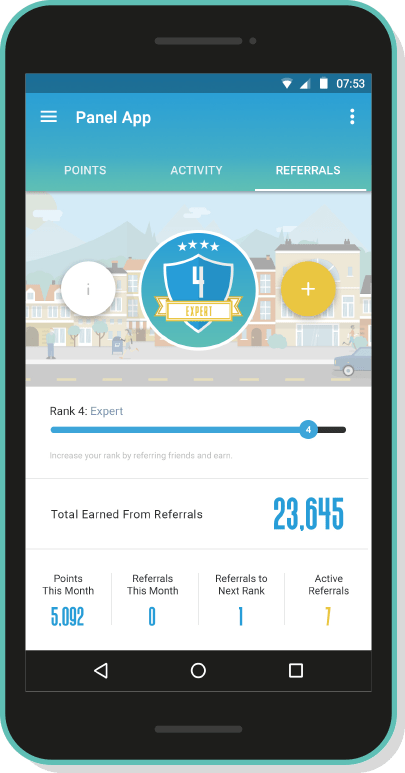 Earn points for prizes android