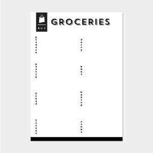 black + white grocery