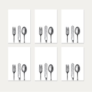 fork knife spoon tags