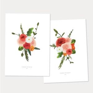 summer bouquet art prints