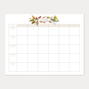 vintage fall lesson planner