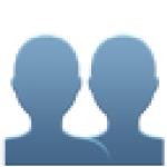 icon of two people making a team