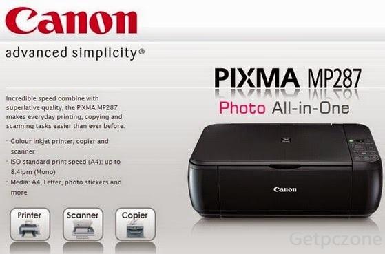 Canon PIXMA MP287 Driver Free Download