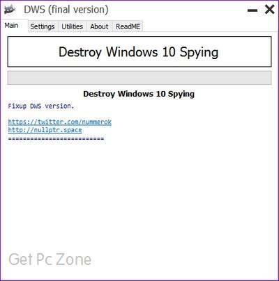 Destroy Windows 10 Spying Download 32-64Bit