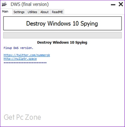 Destroy Windows 10 Spying Download 32-64Bit