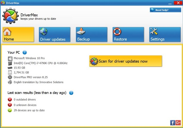 DriverMax Pro 10.18.0.36 Multilingual Download