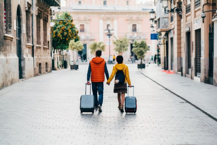 Couple travel to abroad