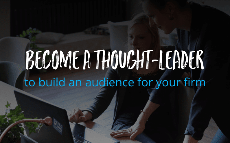 Become a thought-leader in your industry to build more trust
