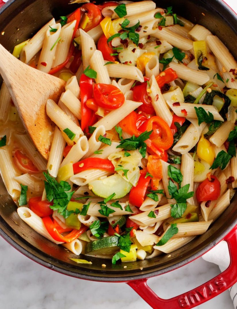 One of the most famous Italian pasta shapes and loved across Italy combined with healthy herbs and vegetables.