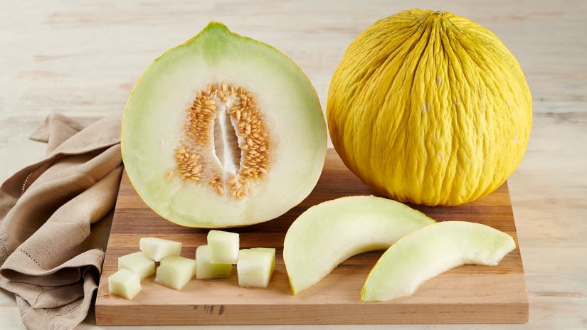 Melon can be cut into halves, quarters, wedges, cubes, or scooped into balls with a melon baller.