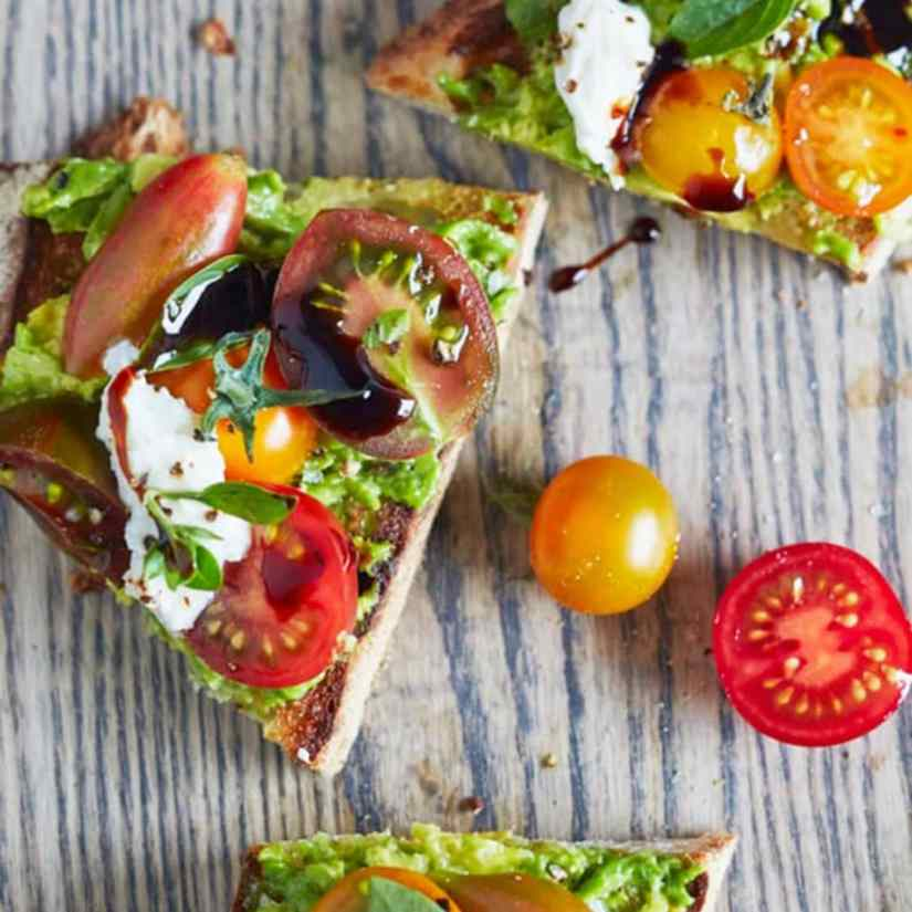 Toast is often thought of as an empty breakfast, but when it's topped with heart healthy, anti-inflammatory avocado and vitamin c-rich tomato, it's nothing but a good-for-you.