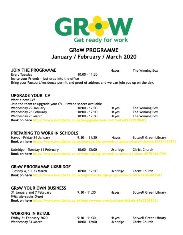 GRoW Programme Jan Feb March 2020 image