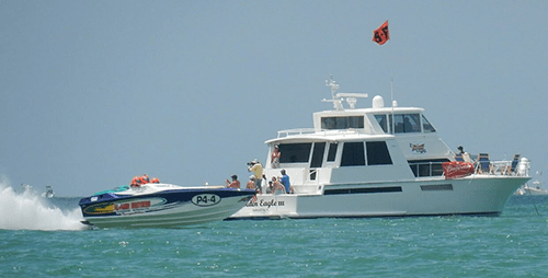 Participating in the Sarasota Powerboat Grand Prix as a Turn Boat