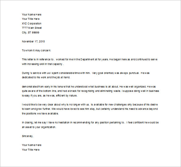 job recommendation letter recommendation letter for job letter of recommendation for a job