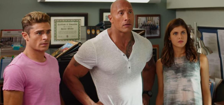 Baywatch Movie Dwayne 'The Rock' Johnson, Zac Efron, Alexandra Daddario