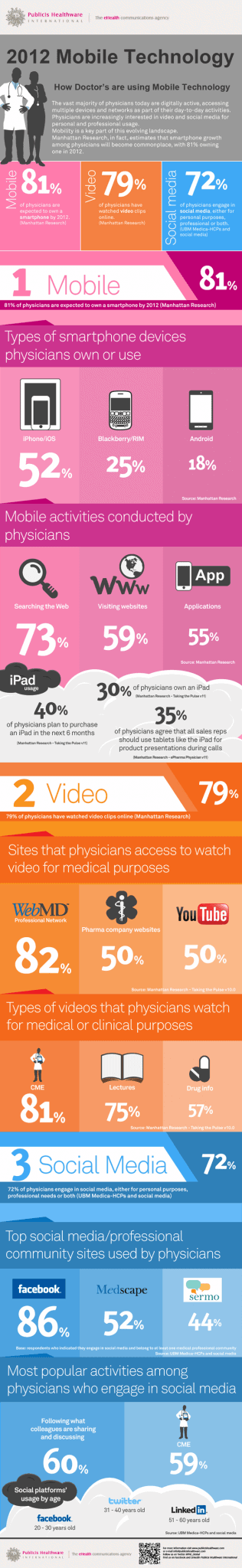 mobiletech1 - 3 New Media Statistics for Doctor's - 2012 InfoGraphic