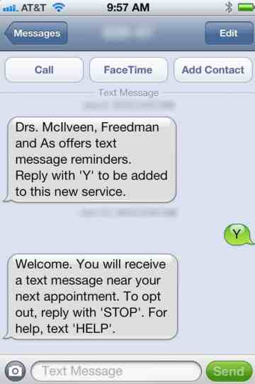 Dentist-Text-Messages Mobile Marketing for Dentists
