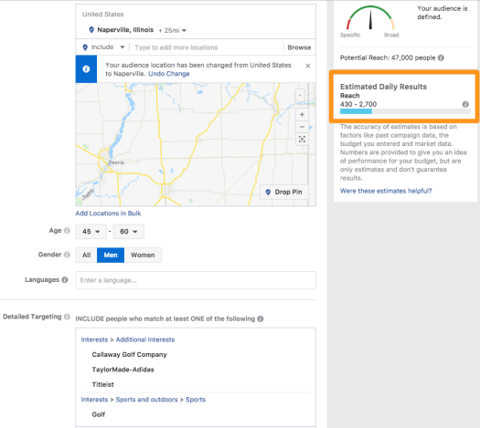 Facebook Ad Targeting Example - Ultimate Guide on How to Get More Patients to Your Practice - 2018