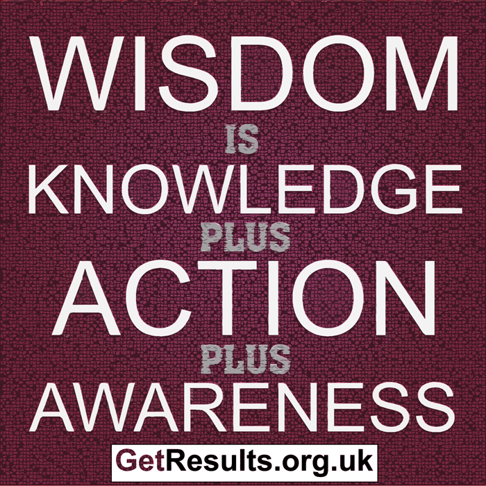 Get Results: wisdom