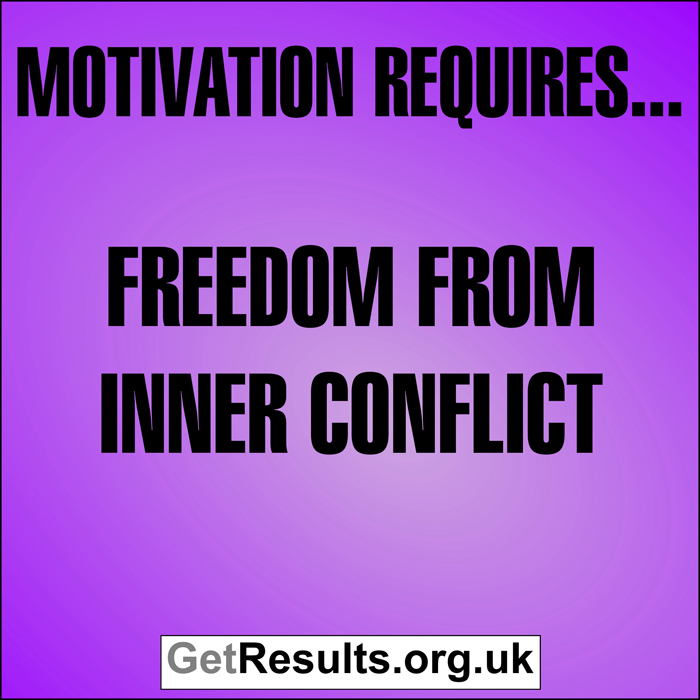 Get Results: Motivation requires...freedom from inner conflict