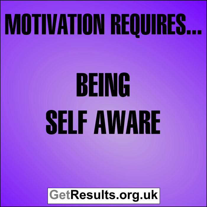 Get Results: Motivation requires...being self aware