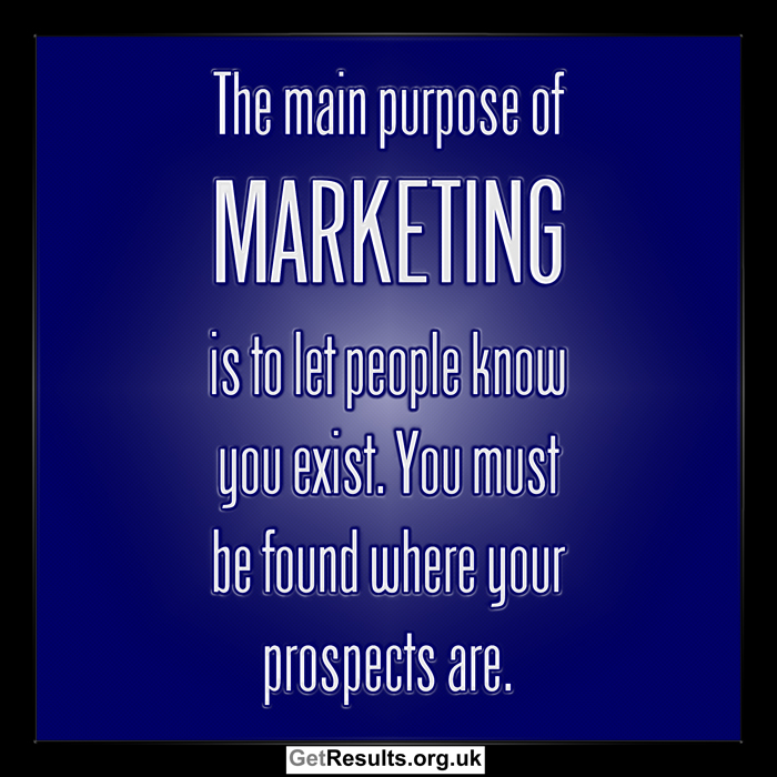 Get Results: Marketing is about being found